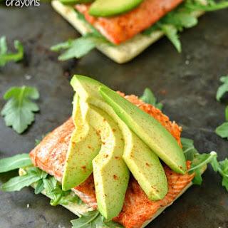 Grilled Salmon Ciabatta Sandwiches