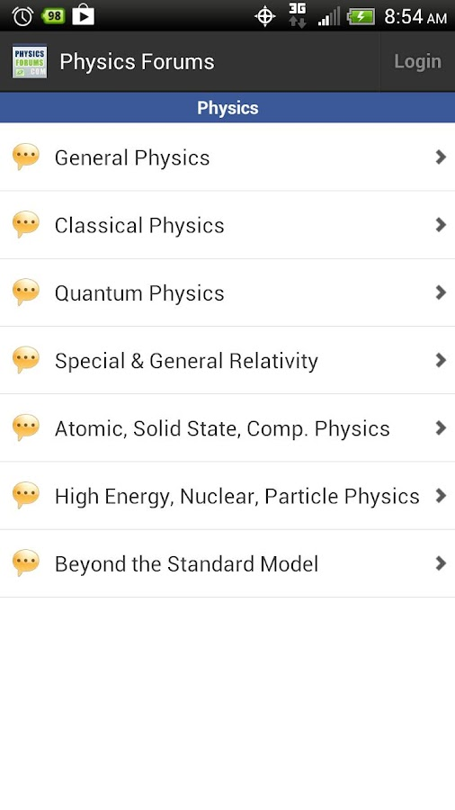 Physics Forums - screenshot