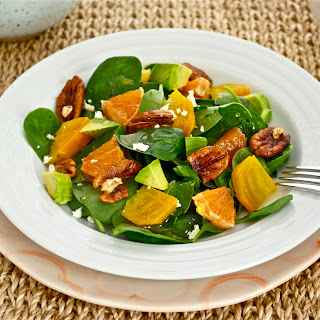 Roasted Golden Beet and Citrus Salad with White Balsamic Vinaigrette