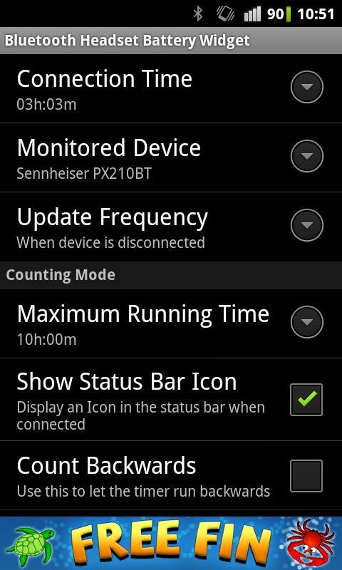 Bluetooth Headset Battery - screenshot