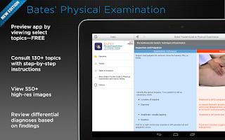 Screenshot of Bates' Physical Examination