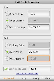 Stock Profit Calculator FREE