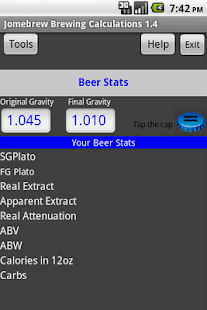 Beer Stats and Conversions- screenshot thumbnail