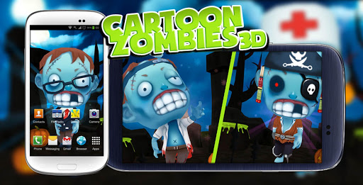 Toon Zombies 3D live wallpaper