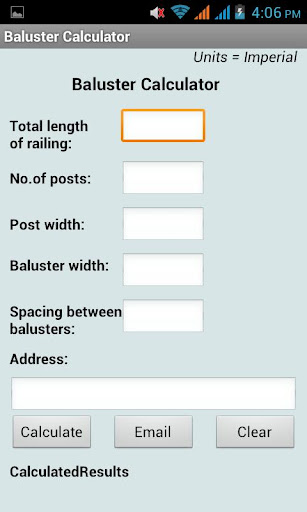 Baluster Calculator