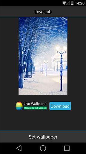 Snow Night Live Wallpaper