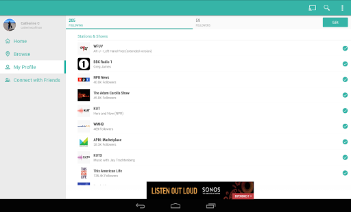 TuneIn Radio - Radio & Music Screenshot 23