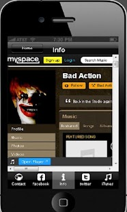 Bad Action Music App - screenshot thumbnail