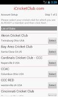 Screenshot of iCricketClub.com