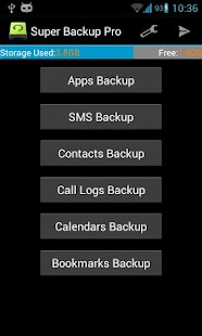 Super Backup Pro: SMS&Contacts - screenshot thumbnail