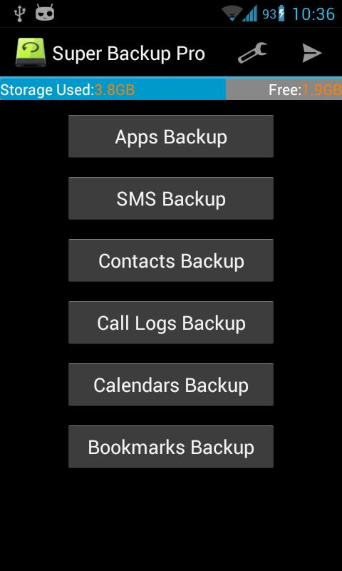 Super Backup Pro: SMS&Contacts- screenshot