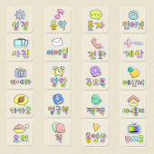 CUKI Theme Cute Written Icon