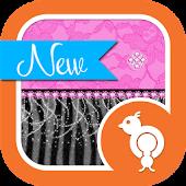 Pink Lace & Zebra Theme GO SMS