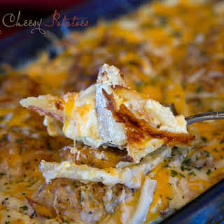 My favorite meal - Creamy Cheesy Chicken & Potatoes.