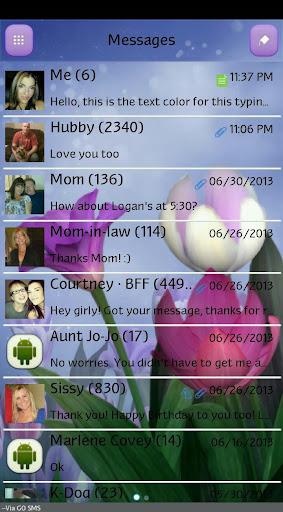 【免費個人化App】GO SMS - Bouquet-APP點子