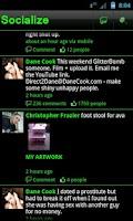 Screenshot of Green Socialize for Facebook