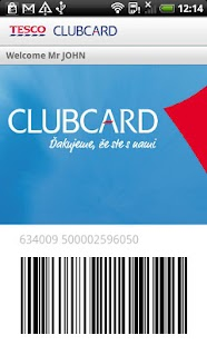Tesco Clubcard- screenshot thumbnail