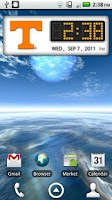 Screenshot of Tennessee Vols Clock Widget