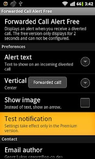 Forwarded Call Alert Free ROOT - screenshot thumbnail