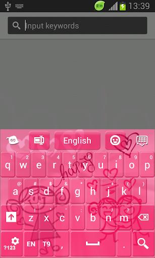 鍵盤粉紅塗鴉