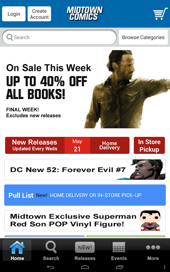 Midtown Comics - screenshot