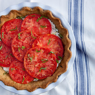 Fresh Tomato Ricotta Pie with Garlic Herb Crust