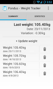 Pondus - Weight Tracker - screenshot thumbnail