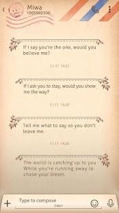 GO SMS PRO LOVELETTER THEME