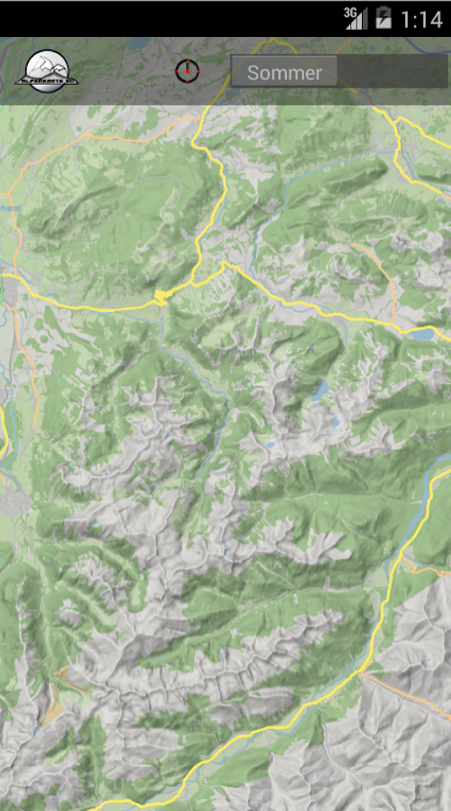 DOLOMITE mountain range map- screenshot