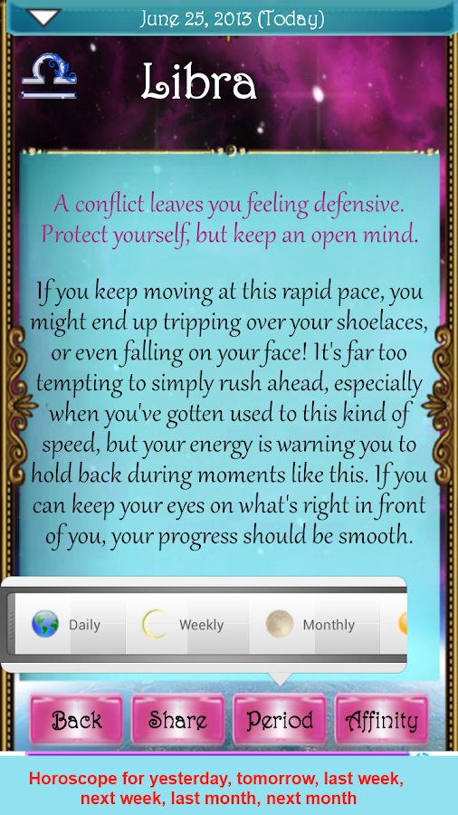 The True Horoscope 2015 - screenshot