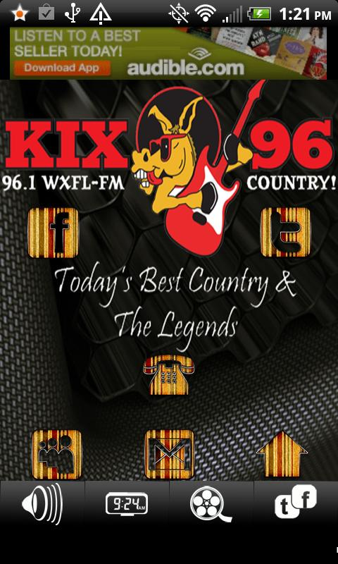 WXFL FM Kix 96 Country Radio - screenshot