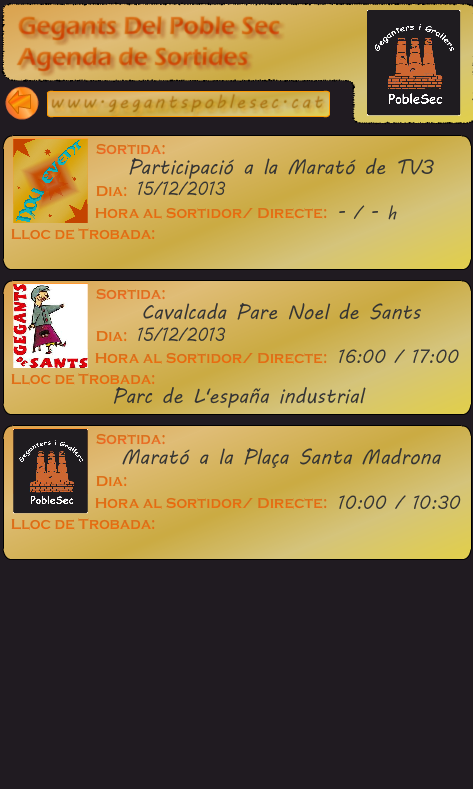 Calendari Gegants PobleSec- screenshot
