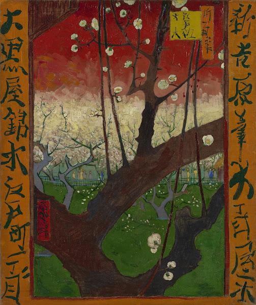 Vincent van Gogh, Árvore de Ameixa em Florescência - depois de Hiroshige, 1887