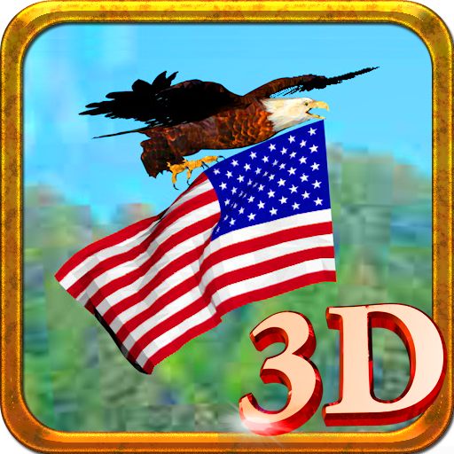 Eagle flag 3D Live Wallpaper LOGO-APP點子