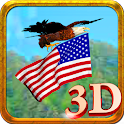 Eagle flag 3D Live Wallpaper icon