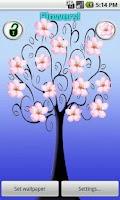 Screenshot of Flower Stickers Live Wallpaper