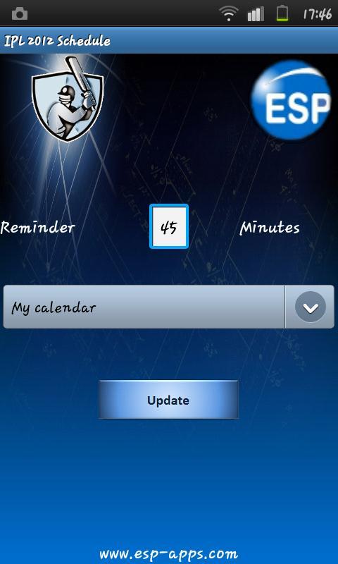 IPL Calendar - screenshot