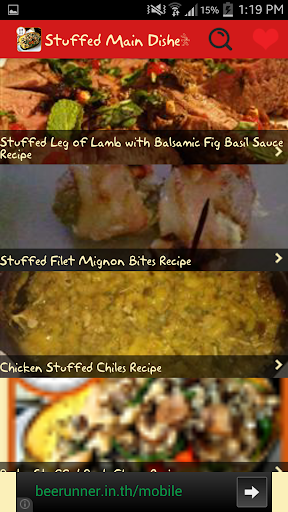 Stuffed Main Dishes Recipes
