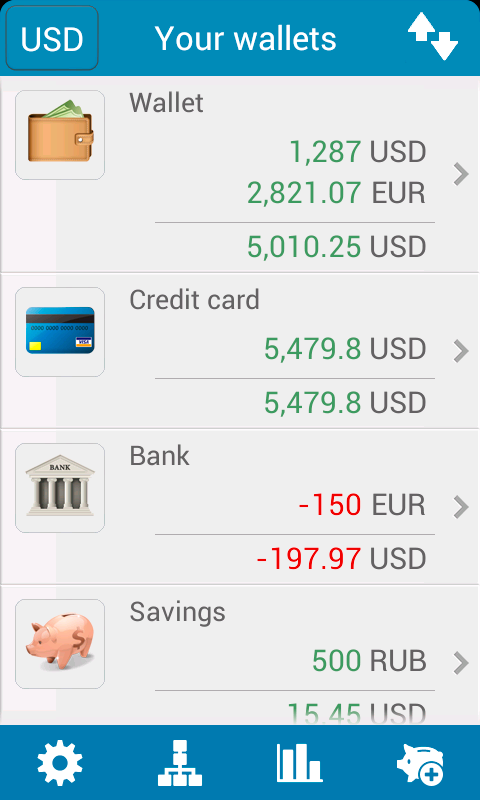 My wallets. - screenshot
