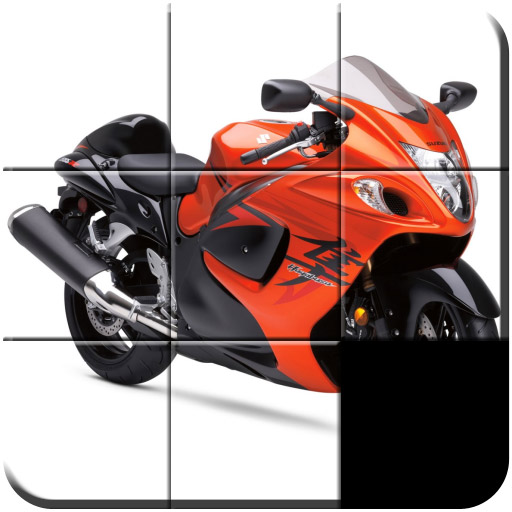 Motorcycles Slide Puzzle
