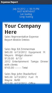 LAS Expense Report- screenshot thumbnail