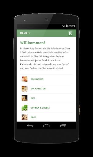 Kalorientabelle App