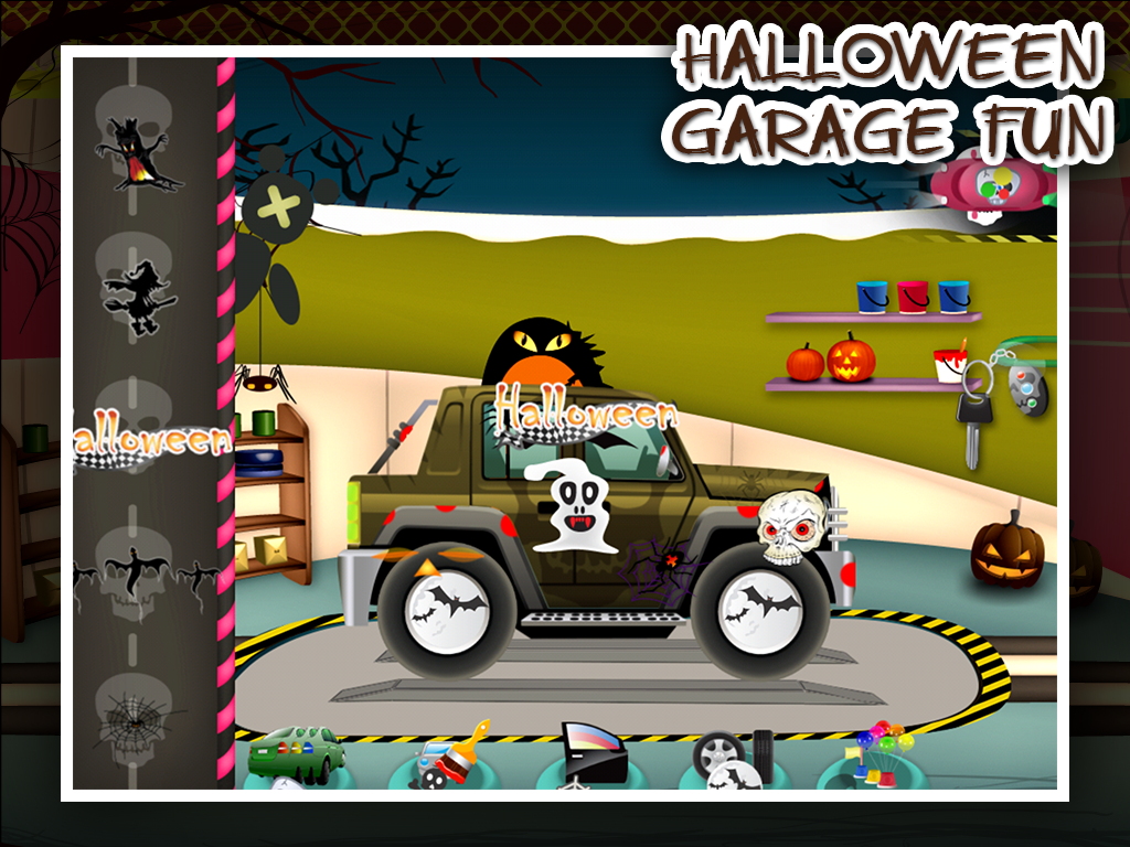 Halloween Car Garage Fun- screenshot