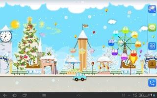 Screenshot of My Christmas Wonderland LWP
