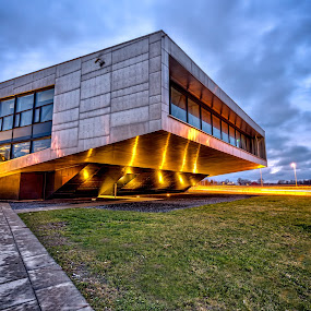 Inspiria by Bent Velling - Buildings & Architecture Architectural Detail ( lights, center, clouds, canon 6d, building, ef17-40mml, østfold, inspiria, norway, science, sarpsborg )