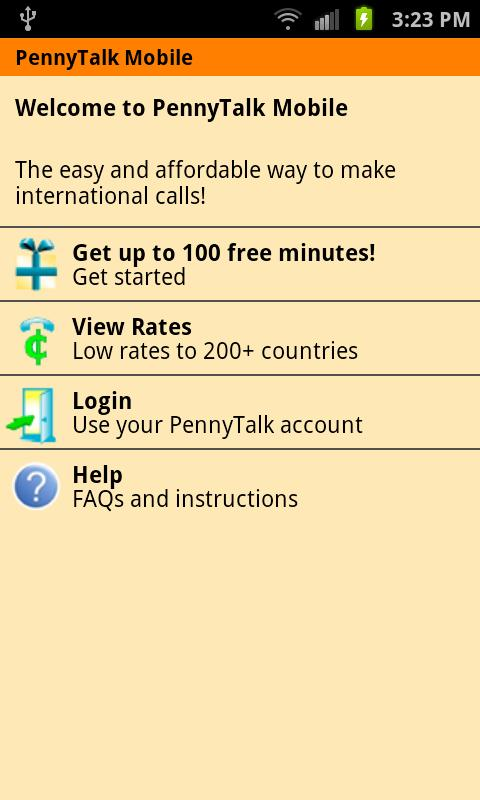 PennyTalk Mobile - screenshot