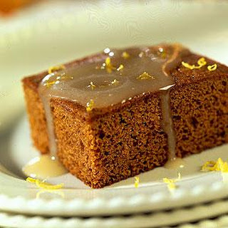 Gingerbread Cake with Lemon Sauce.