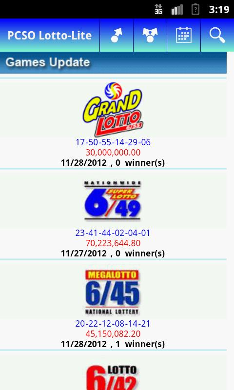 PCSO Lotto - Lite - screenshot