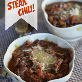 Easy Slow Cooker Steak Chili