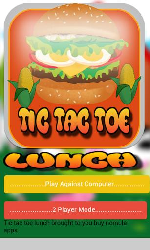 Tic tac toe lunch